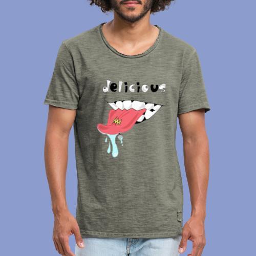 DELICIOUS - Maglietta vintage da uomo
