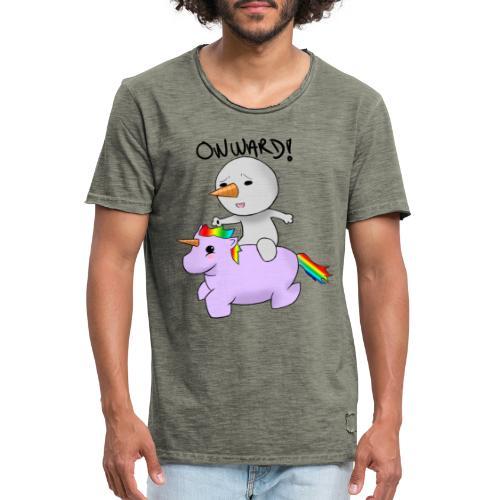 ONWARD! - Vintage-T-skjorte for menn
