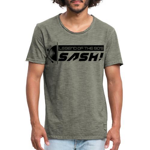DJ SASH! Turntable 2020 Logo - Men's Vintage T-Shirt