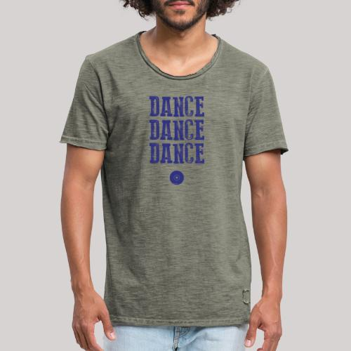 dancedancedance_blu - Maglietta vintage da uomo
