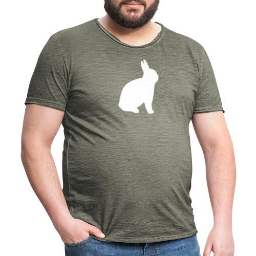 T-shirt personnalisable avec votre texte (lapin) - T-shirt vintage Homme