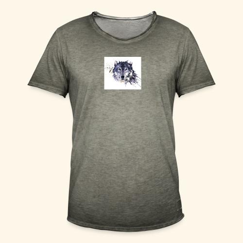 Wolf - Mannen Vintage T-shirt