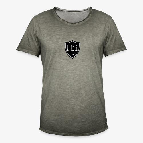 Ubi badge black - Mannen Vintage T-shirt