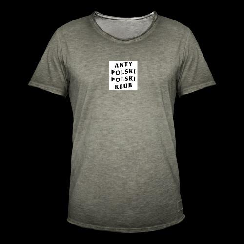 APPK SQUARE - Koszulka męska vintage