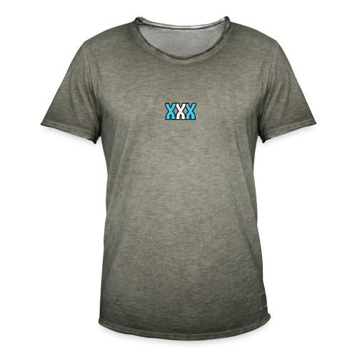 XXX (Blue + White) - Men's Vintage T-Shirt