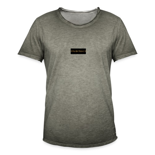 orange writing on black - Men's Vintage T-Shirt