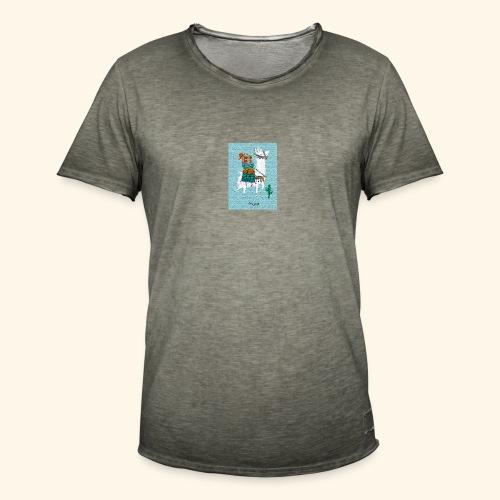 Lama Gang - Männer Vintage T-Shirt