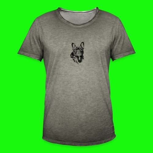 Small_Dog-_-_Bryst_- - Herre vintage T-shirt
