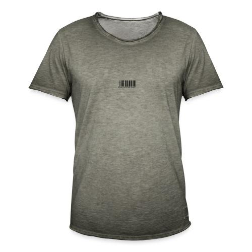Code barre man - T-shirt vintage Homme