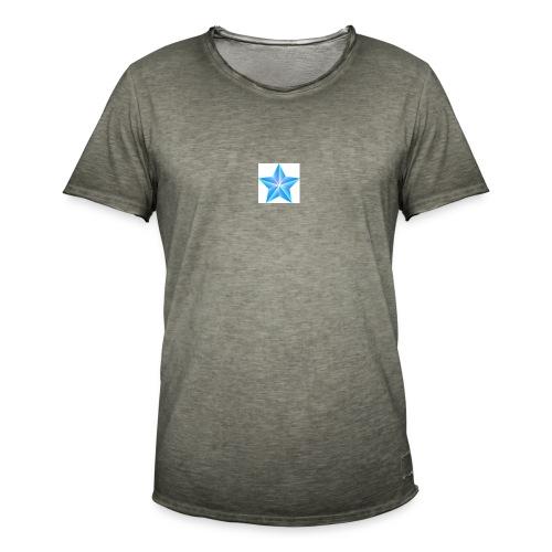blue themed christmas star 0515 1012 0322 4634 SMU - Men's Vintage T-Shirt