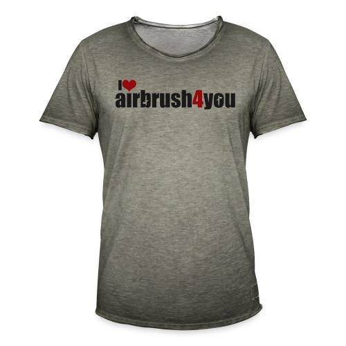 I Love airbrush4you - Männer Vintage T-Shirt