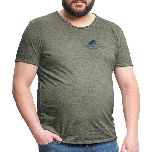 MMOA Logo Blue Marine Fauna Observer on back - Men's Vintage T-Shirt