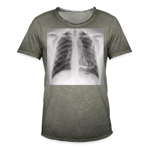 Röntgenbild Kaninchenherz hell - Männer Vintage T-Shirt
