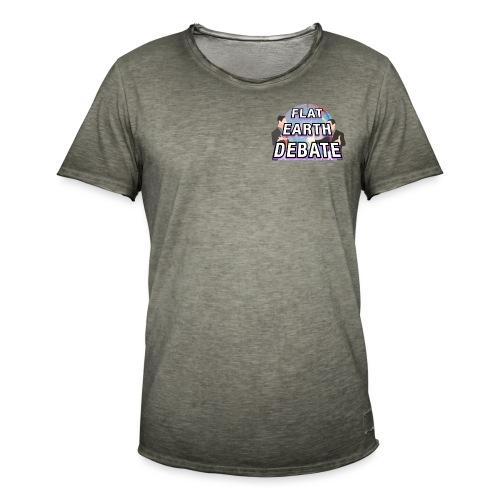 Flat Earth Debate Solid - Men's Vintage T-Shirt