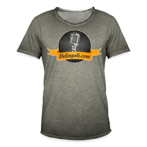 Nelinpelin logo - Miesten vintage t-paita