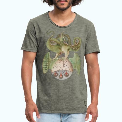 Middle Ages Dragon - Men's Vintage T-Shirt