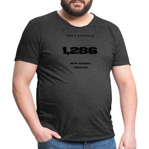 Daily vegan statistic - Vintage-T-shirt herr