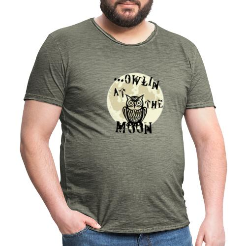 Owlin At The Moon - Vintage-T-shirt herr