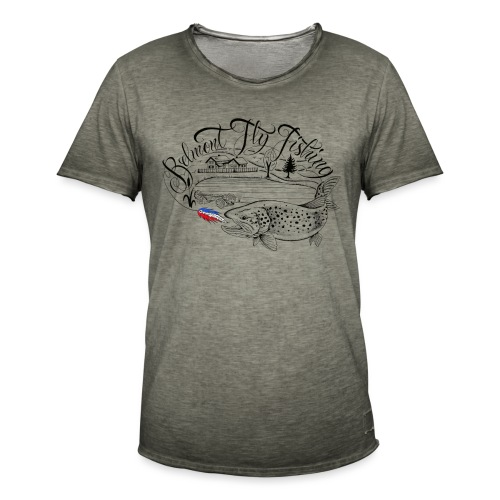 belmont fly fishing - T-shirt vintage Homme