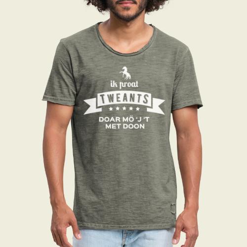 Ik proat Tweants...(lichte tekst) - Mannen Vintage T-shirt