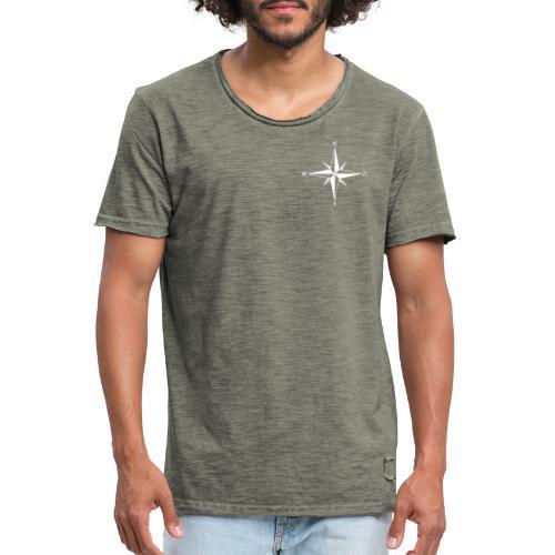 Kompas white - Herre vintage T-shirt