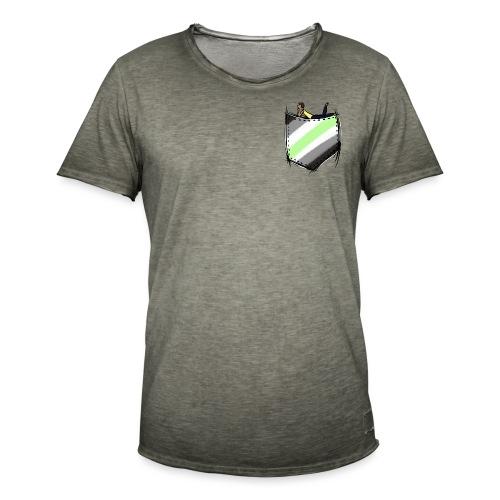 pocket agender flag - T-shirt vintage Homme