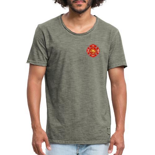 Fire Department Badge - Männer Vintage T-Shirt