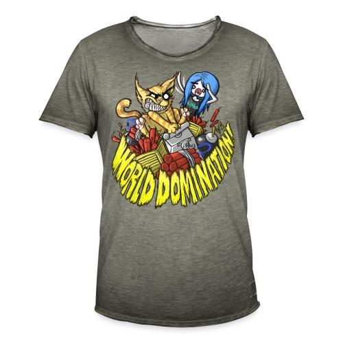 WORLD DOMINATION - Men's Vintage T-Shirt