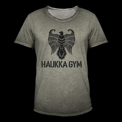 HAUKKA GYM LOGO - Miesten vintage t-paita