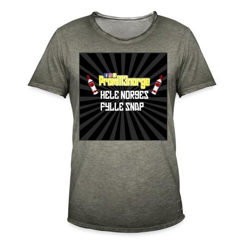 promill3norge Hele norges fylle snap - Vintage-T-skjorte for menn