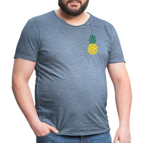 Pineapple - Mannen Vintage T-shirt
