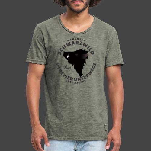 Schwarzwild im Revier-Shirt für Sauenjäger - Männer Vintage T-Shirt