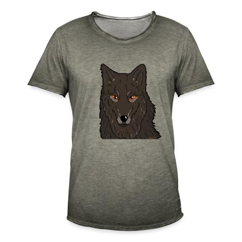 HikingMantis Wolf png - Herre vintage T-shirt