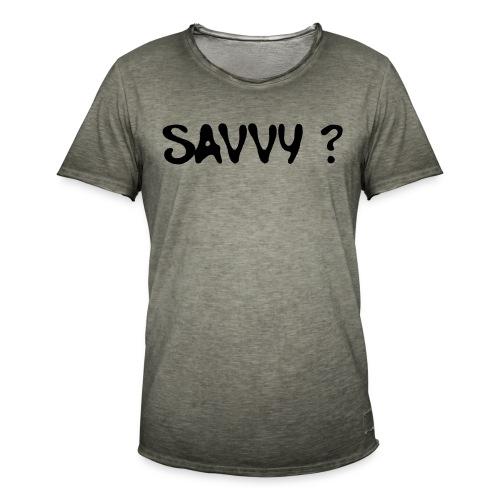 savvy? - Mannen Vintage T-shirt