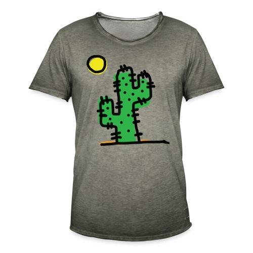 Cactus single - Maglietta vintage da uomo