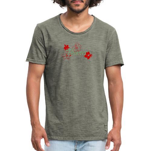 Flowers - Männer Vintage T-Shirt