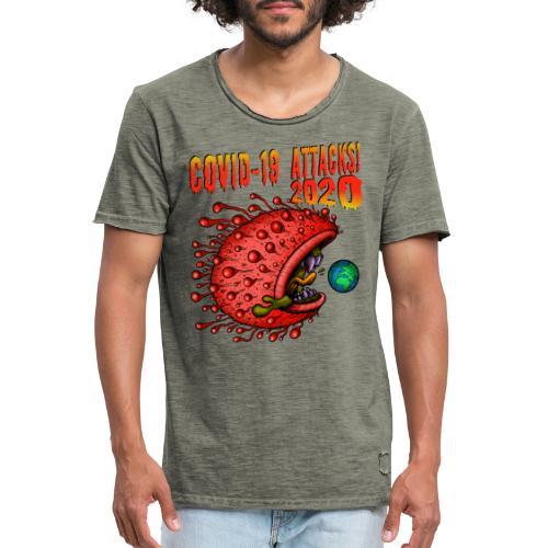 Covid-19 Attacks! 2020 - Männer Vintage T-Shirt