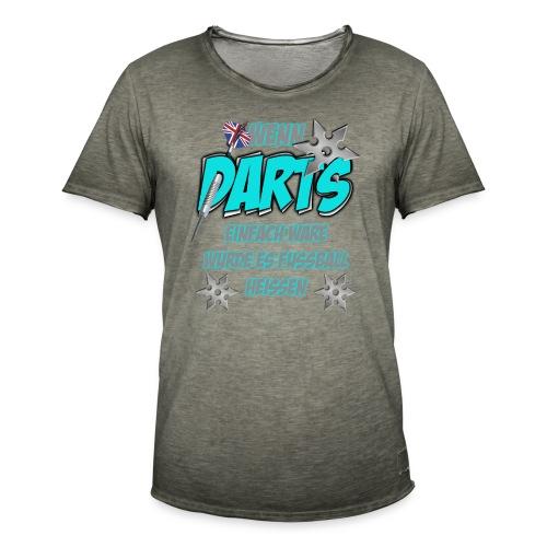 Wenn Darts einfach wäre... - Männer Vintage T-Shirt