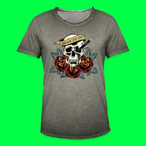 draw or die - T-shirt vintage Homme