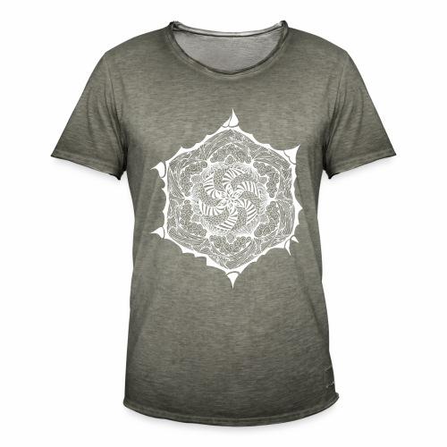 Blumen Doodle weiss - Männer Vintage T-Shirt