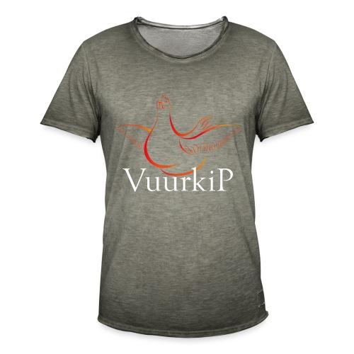 Vuurkip - Mannen Vintage T-shirt