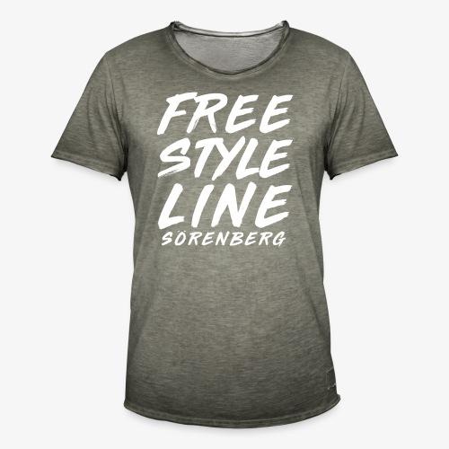 line brush white - Männer Vintage T-Shirt