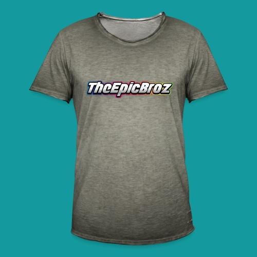 TheEpicBroz - Mannen Vintage T-shirt