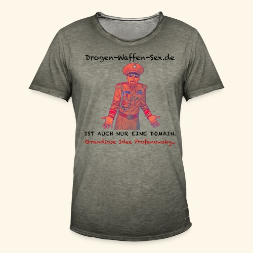 Drogen-Waffen-Sex - Männer Vintage T-Shirt