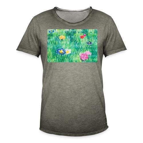 Blumenwiese - Männer Vintage T-Shirt