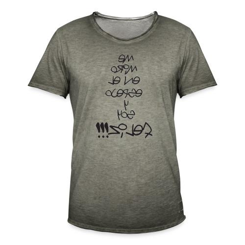 Para el Espejo:ME MIRO Y SOY FELIZ - Camiseta vintage hombre