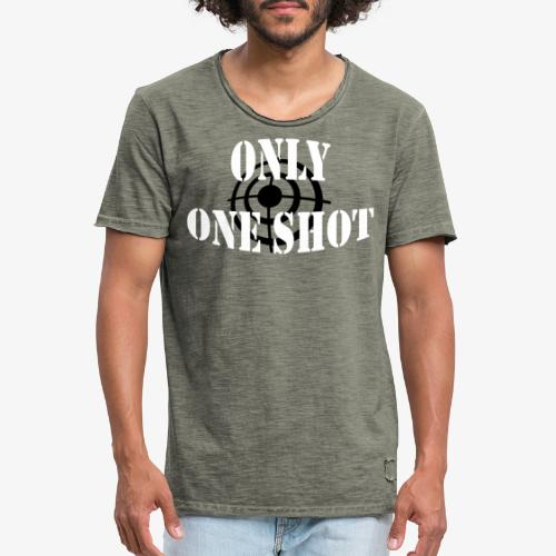Only one shot - T-shirt vintage Homme