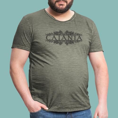 Caiania-logo harmaa - Miesten vintage t-paita