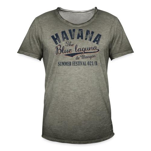 Havana_Blue Laguna - Männer Vintage T-Shirt
