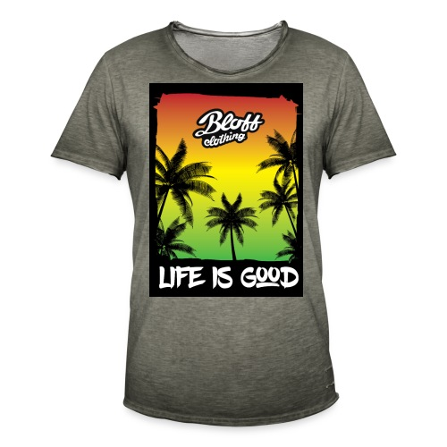 life is good - Camiseta vintage hombre